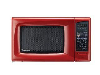 Magic Chef .9 Cu Ft Countertop Microwave Red MCD990R: Countertop Microwave Ovens: Kitchen & Dining