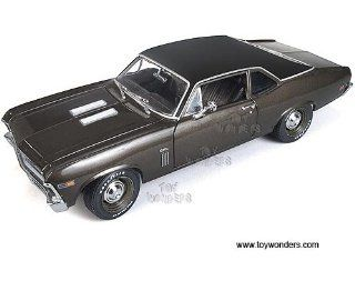 Amm966 Auto World Ertl Elite   Chevrolet Nova Ss396 Hard Top 20th Anniversary (1969, 1:18, Burnished Brown) Amm966 Diecast Car Model Auto Vehicle Automobile Metal Iron Toy: Toys & Games
