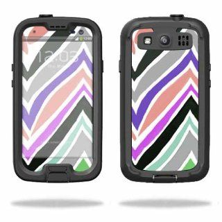 MightySkins Protective Vinyl Skin Decal Cover for LifeProof Samsung Galaxy S III S3 Case fre Sticker Skins Colorful Chevron: Cell Phones & Accessories