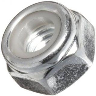 Carbon Steel Lock Nut, Zinc Plated Finish, Right Hand Threads, Self Locking/Nylon Insert, Meets DIN 985, M6 1.0 Threads (Pack of 100) Hardware Locknuts Industrial & Scientific