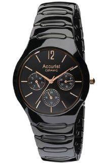 Accurist MB990B Ladies Black Ceramic Watch: Watches