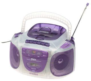 GPX C991CT Purple CT CD AM/FM Stereo Cassette Recorder  Cassette Player Products   Players & Accessories
