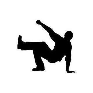 Break Dancer Silhouette Stencil   60 inch (at longest point)   60 mil ultraflex ind: Industrial & Scientific