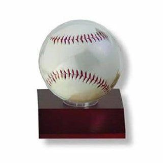 Ultra Pro Dark Wood Baseball Holder (Quantity of 6)  Sports Related Display Cases  Sports & Outdoors