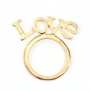 Love Ring Size 6 Gold Tone Statement RI04 Fashion Jewelry Jewelry