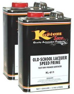 Old School Lacquer Speed Prime Kit Gray Kustom Shop Speed Primer Makes 2 gallons Automotive