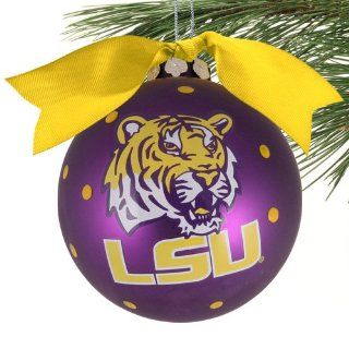 LSU Tigers Purple Team Logo Christmas Ornament  Football Apparel  Sports & Outdoors