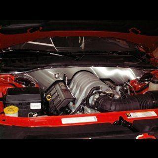 American Car Craft Dodge Challenger 2008 2009 2010 2011 2012 SRT8 Brushed Firewall Trim Engine Bay Dress Up Kit Automotive