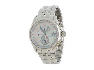 Citizen Watches FC0000 59D World Time A T Eco Drive Mother Of Pearl Dial Watch Silver Tone Stainless Steel