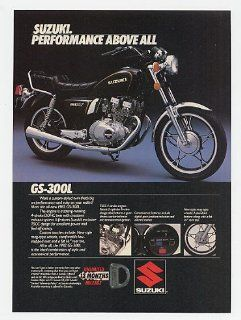 1982 Suzuki GS 300L Motorcycle Performance Above All Print Ad