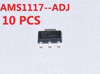 Sunkee 10Pcs AMS1117 ADJ AMS1117 LM1117 1A SOT 223 Voltage Regulator  Vehicle Amplifier Fuses