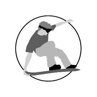 "6"" Printed color snowboarder no hat gray Hockey Skate Ski Winter Snow Snowboard sticker decal for any smooth surface such as windows bumpers laptops or any smooth surface."