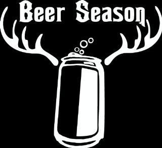 "8"" Beer season deer hunting Die Cut decal sticker for any smooth surface such as windows bumpers laptops or any smooth surface.: Everything Else"