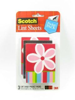 3M Scotch Lint Sheet Pocket Packs, 3 Pack: Kitchen & Dining
