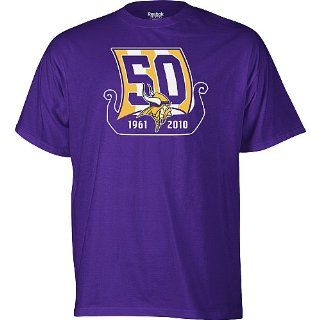 Minnesota Vikings 50th Anniversary Emblem T shirt 2X Large  Sports & Outdoors