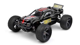 Iron Track RC Electric Centro 118 4WD Brushless Truggy Almost Ready to Run (Black) ***REQUIRED TO RUN (AND SOLD SEPARATELY) 7.4v 1500mah 25C continuous 40C burst Battery, 2 Channel Receiver, AND 2 Channel Transmitter*** Toys & Games