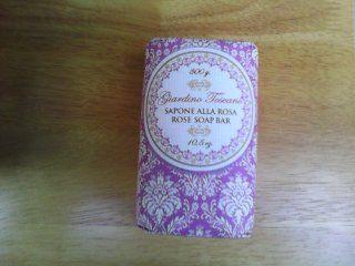 Giardino Toscano Sapone Alla Rosa Rose Soap Bar 10.5 Oz : Bath Soaps : Beauty