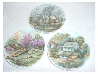 Set of 3 Currier & Ives Plates by Bavaria Germany  Other Products