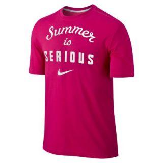 Nike Summer Is Serious Mens T Shirt   Fuchsia Force