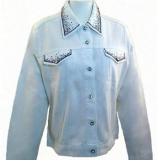 Christine Alexander Jacket Swarovski Crystals around Pockets & Buttons   Crystal Sprinkles (X Large) Outerwear