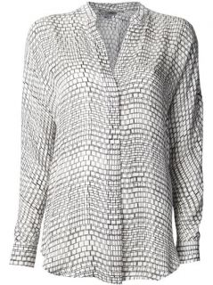 Vince Geometric Pattern Blouse