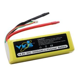 3300mah 4s 14.8v 30c Rc Lipo Battery Akku Airplane 14.8 Toys & Games