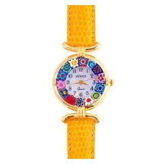 Venezia Millefiori Watch   Yellow Band & Gold [Watch] Watches