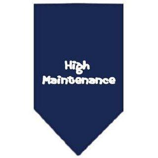 High Maintenance Screen Print Dog Bandana (Small/Navy Blue). Cotton, Clothes, Fabric Pet Supplies / Shops  Hunting Dog Equipment  Sports & Outdoors