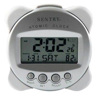 Compact Self Setting Atomic Clock with Alarm, Temp, Day/Date/Month: Electronics