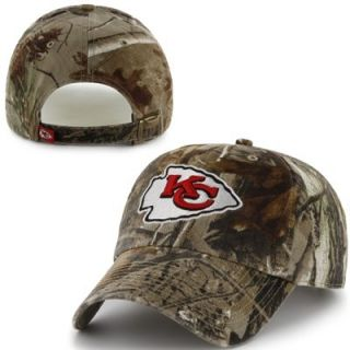47 Brand Kansas City Chiefs Clean Up Adjustable Hat   Realtree Camo