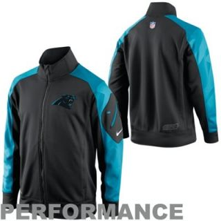Nike Carolina Panthers Fly Speed Full Zip Performance Jacket   Black/Panther Blue