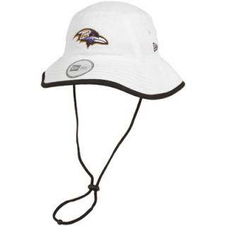 New Era Baltimore Ravens Training Bucket Hat   White