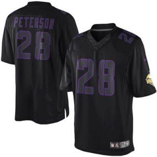 Nike Adrian Peterson Minnesota Vikings Youth Impact Jersey   Black