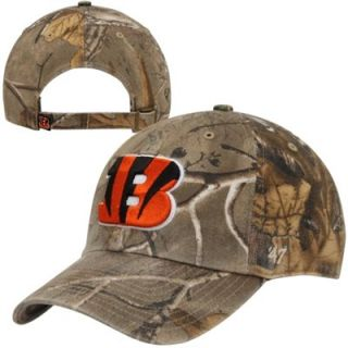 47 Brand Cincinnati Bengals Clean Up Adjustable Hat   Realtree Camo/Orange