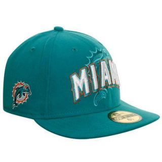 New Era Miami Dolphins NFL Draft Fitted Hat Aqua 91e081ece5ee
