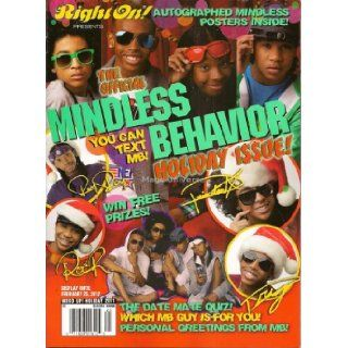 Right On Official Mindless Behavior Holiday Issue Magazine   Holiday 2011   Contains 12 Posters (Front & Back)   MB   Newsstand Edition (No Address Label) Right On Magazine Books
