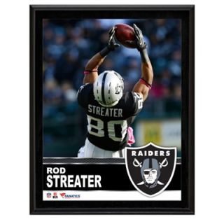 Rod Streater Oakland Raiders Sublimated 10.5 x 13 Plaque