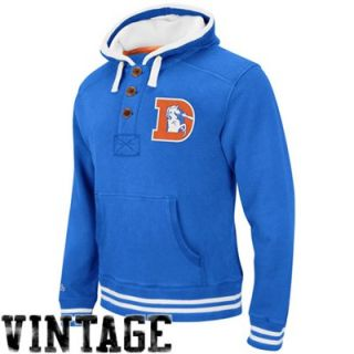 Mitchell & Ness Denver Broncos Vintage Primary Logo Pullover Hoodie Sweatshirt   Royal Blue