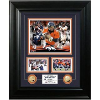 Peyton Manning Denver Broncos 18 x 22 Marquee Gold Coin Photo Mint   Limited Edition of 500