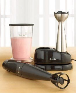 Breville BCS500XL 9.6 Volt Cordless Immersion Blender with Recharging Base Electric Hand Blenders Kitchen & Dining