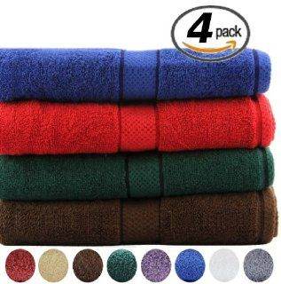 Utopia Premium Large Bath Towels 100% Cotton, Soft and Absorbent, 30 X 56 Inches, 4 Pack, 550 Gram Each, Variety Pack   Towel Sets