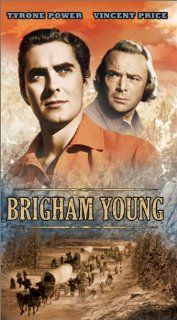 Brigham Young [VHS]: Tyrone Power, Linda Darnell, Dean Jagger, Brian Donlevy, Jane Darwell, John Carradine, Mary Astor, Vincent Price, Jean Rogers, Ann E. Todd, Willard Robertson, Moroni Olsen, Marc Lawrence, Stanley Andrews, Frank M. Thomas, Fuzzy Knight,