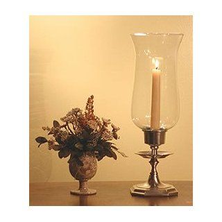 Writer's Draft Hurricane Lamp, Pewter   Hurricane Candle Holders