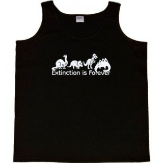 WOMENS TANK TOP : BLACK   SMALL   Extinction is Forever   Funny Dinosaurs Paleontologist: Clothing