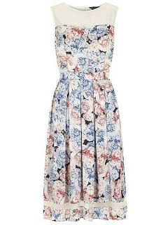 Dorothy Perkins All about rose midi fit and flare dress Multi Coloured
