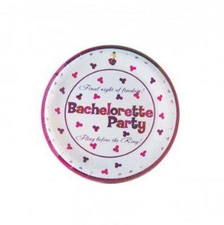 Holiday Gift Set Of Bachelorette Party 7in Plate And a Pocket Rocket Jr. Purple Health & Personal Care