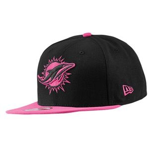 New Era NFL Breast Cancer Awareness Snapback   Mens   Football   Accessories   Miami Dolphins   Black/Pink