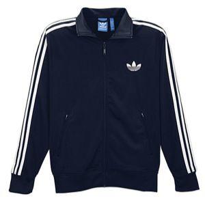 adidas Originals Firebird Full Zip Track Jacket   Mens   Casual   Clothing   Dark Indigo/White