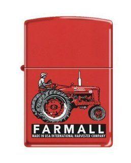 Zippo Custom Lighter   Farm with Farmall's Tractor Red Matte Logo  Cigarette Lighters  Beauty