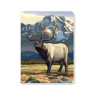 ECOeverywhere Roaming Elk Journal, 160 Pages, 7.625 x 5.625 Inches, Multicolored (jr11769) : Hardcover Executive Notebooks : Office Products